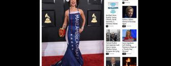 Singer Boosts Sales & Popularity After Wearing Pro-Trump Dress to Grammy Awards